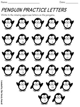 Missing Letters - Penguin Practice
