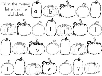 Missing Letters - Pumpkins