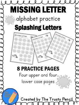 Missing Letters - Splashing Letters