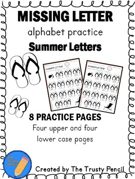 Missing Letters - Summer Letters