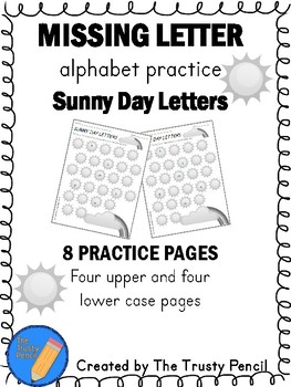 Missing Letters - Sunny Day Letters