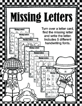 Missing Letters - Visual Scanning, Sequencing and Handwrit