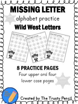 Missing Letters - Wild West Letters