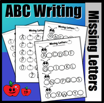 Missing Letters - Worms and Apples ABC Set