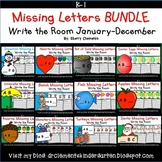 Missing Letters Write the Room BUNDLE