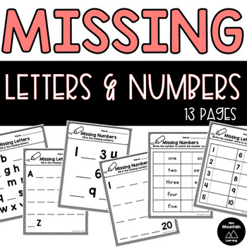 Missing Letters and Numbers