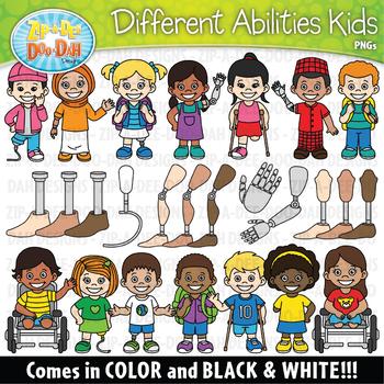 Missing Limbs Kids Clipart Set {Zip-A-Dee-Doo-Dah Designs}
