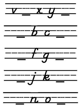 Missing Lowercase Letters (Modern Manuscript)