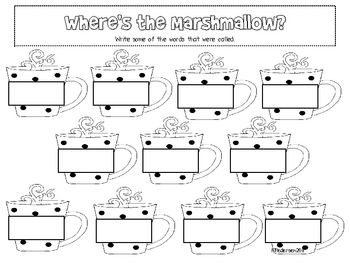 Missing Marshmallow Sight Word Game