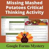 Missing Mashed Potatoes Distance Learning Mystery