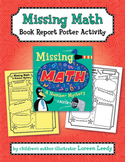 Missing Math Book Report Poster Activity
