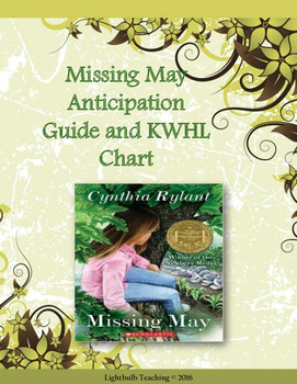 Missing May Anticipation Guide and KWHL Chart