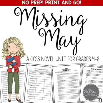 Missing May Novel Study Unit - Common Core Aligned
