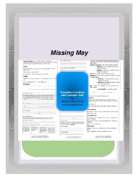Missing May Complete Literature and Grammar Unit