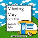 Missing May Novel Unit