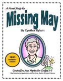 Missing May, by Cynthia Rylant: A Novel Study