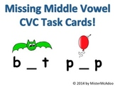 Missing Middle Short Vowel CVC Task Cards