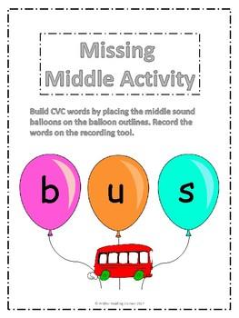 Missing Middle Sound Activity {Build CVC Words}