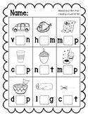 Missing Middle Sound/ Missing Vowel Letter CVC Words Pack: