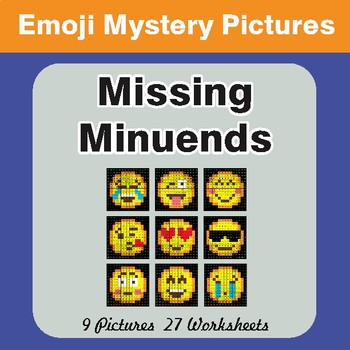 Missing Minuends EMOJI Math Mystery Pictures
