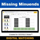 Missing Minuends - Google Slides - Distance Learning - Dig