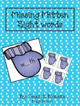 Missing Mitten Sight Words