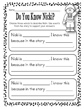 Missing Mittens! {Activities for Writing and Comprehension}