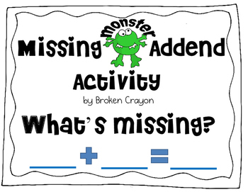 Missing Addend Activity