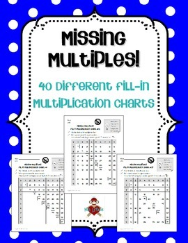 Missing Multiples! Fill-In Multiplication Charts