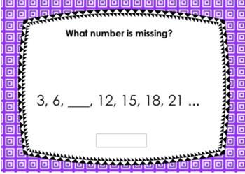 Missing Multiples Task Cards + Digital Task Cards BUNDLE
