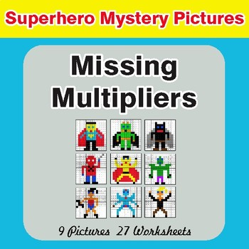 Missing Multipliers - Color-By-Number Math Mystery Pictures