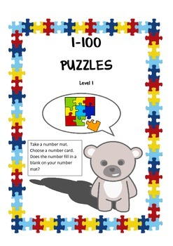 Missing Numbers 1-100 Puzzles Level 1