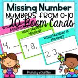 Missing Number 0-10 Digital BOOM Cards