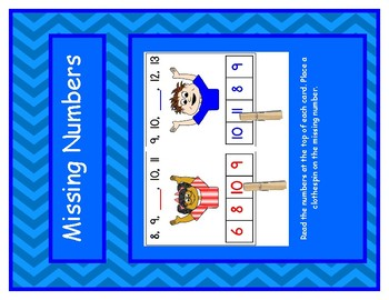 Missing Number 0-20 Clothespin Match Game