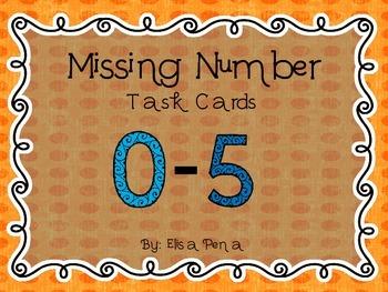 Missing Number 0-5 Task Cards