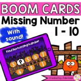 Missing Number 1-10 Pumpkins Digital Game Boom Cards