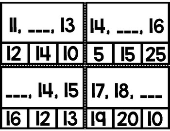 Missing Number (1-120) Clip Cards
