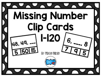 Missing Number (1-120) Clip Cards
