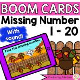 Missing Number 1-20 Turkeys Digital Game Boom Cards