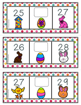 Easter Counting Missing Numbers 1-30