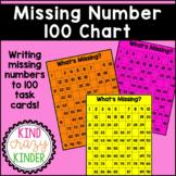 Missing Number 100 Chart Task Cards