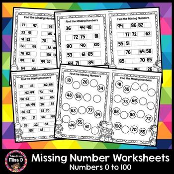 Missing Number Worksheets