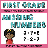 Missing Numbers (First Grade Cut and Paste)