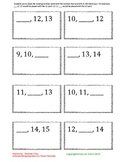 Missing Number Activity #1