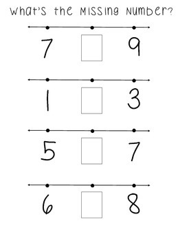 Missing Number Activity