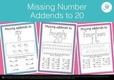 Missing Number Addends/Bonds/Fact Families to 20 Maths Pri
