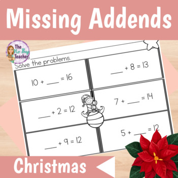 Missing Number Addition Differentiated Worksheets for Christmas