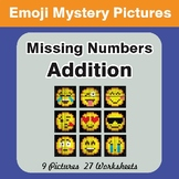 Missing Numbers Addition EMOJI Mystery Pictures