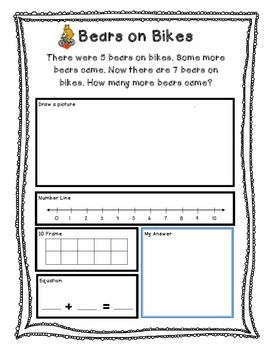 Missing Number Addition Story Problems