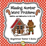 Gingerbread Missing Number (Addition/Subtraction) Word Pro